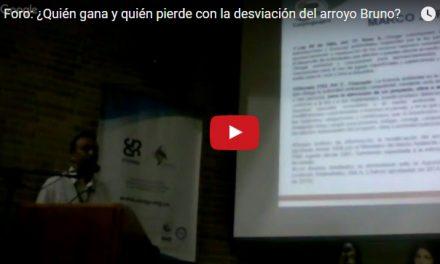 Transmisión «EN VIVO» foro: Quién gana y quién pierde con la desviación del Arroyo Bruno