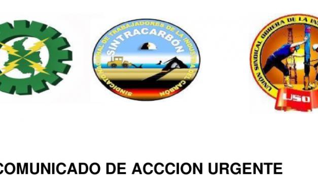 COMUNICADO DE ACCIÓN URGENTE: SE INCREMENTAN LAS AMENAZAS CONTRA LOS LIDERES SINDICALES